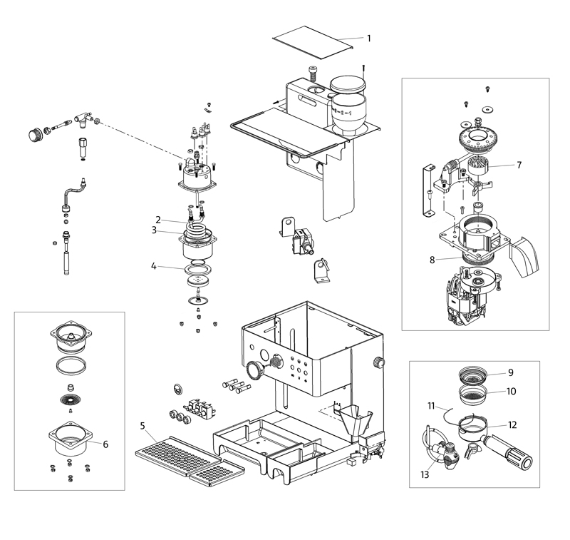 la pavoni domus bar spare parts diagram. Black Bedroom Furniture Sets. Home Design Ideas