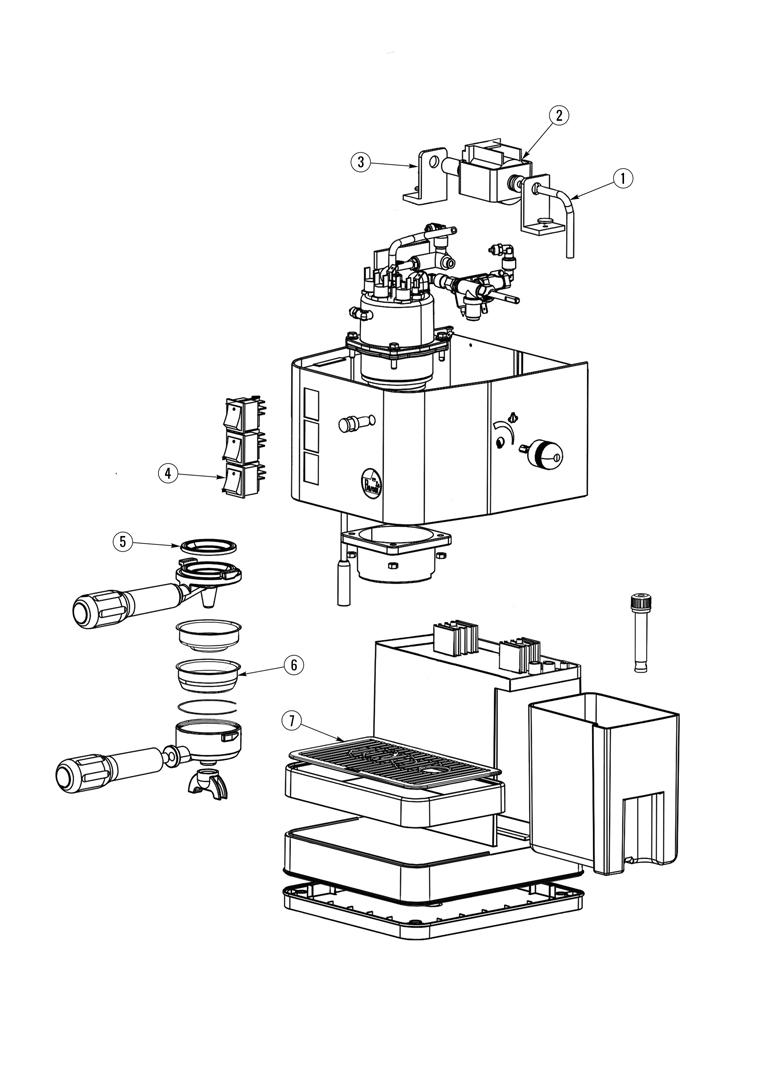 la pavoni puccino spare parts diagram. Black Bedroom Furniture Sets. Home Design Ideas