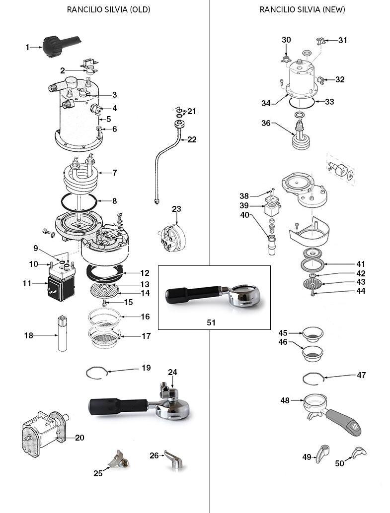 rancilio silvia old  u0026 new diagram