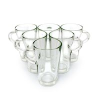 Olympia 9oz Elba Glass Coffee Mug x 6