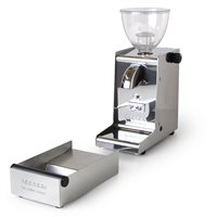 Ascaso i-1 Mini Polished Steel On Demand Grinder with Matching Knock-box