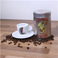 Lucaffe Decaf Ground Coffee & Espresso Cup