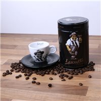 Lucaffe Mr Exclusive Coffee Beans 250g & 2oz Espresso Cup