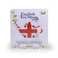 English Tea Shop Organic Assorted Union Jack Gift Box - 72 x Envelope Tea Bags