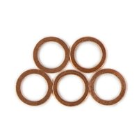 "Universal  Pack of 5 1/4"" Copper Washers ø 18x14x1.5mm"
