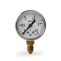La Pavoni Lever Compatible Pressure Gauge (Stainless Steel)
