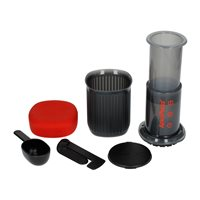 Aeropress Go Coffee Maker and Rhinowares Hand Grinder Pack