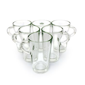 Olympia 9oz Elba Glass Coffee Mug x 6  - Click to view a larger image