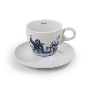 Lucaffe Blucaffe Cappuccino Cup & Saucer x 6  - Click to view a larger image
