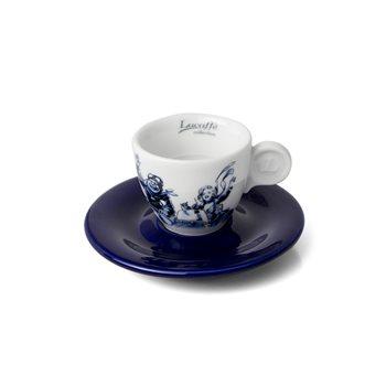 Lucaffe Blucaffe Espresso Cup & Saucer x 6 - V0866  - Click to view a larger image