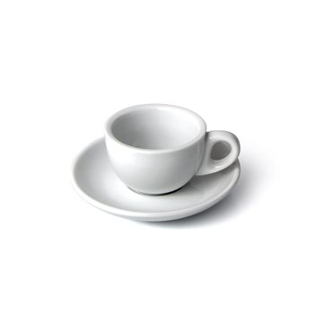 olympia 12 x white espresso cups and saucers 3oz