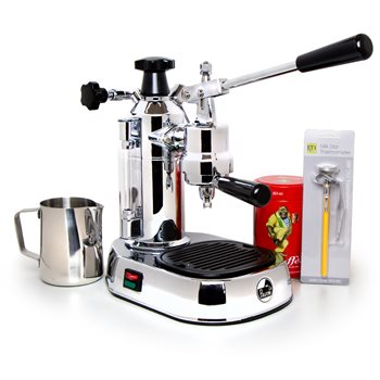 La Pavoni EL - Europiccola (Chrome Base) 240v  - Click to view a larger image