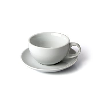 Olympia White 10oz Cappuccino Cups and Saucers x 12  - Click to view a larger image