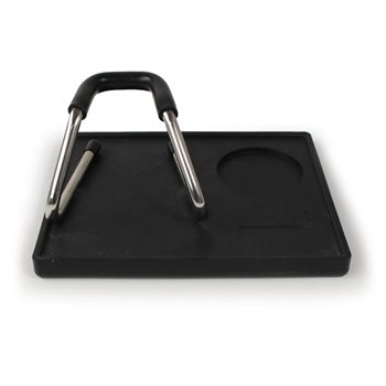 Universal Tamping Mat 156x192mm with Attached Coffee Tamping Stand  - Click to view a larger image