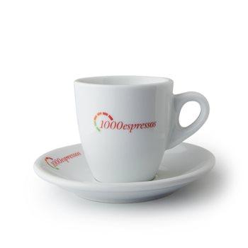 1000espressos 3oz 90ml Espresso Cup & Saucer x12