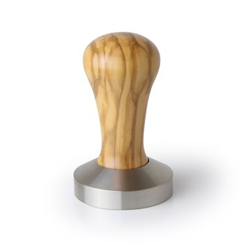 Universal Italian Olive & Flat Stainless ø 58mm Tamper   - Click to view a larger image