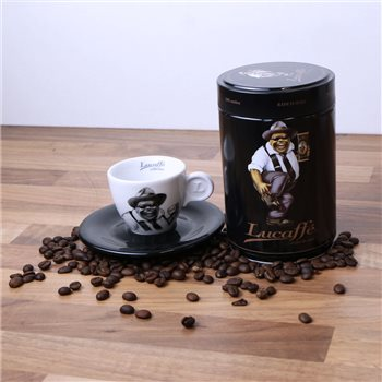 Lucaffe Mr Exclusive Ground Coffee 250g & 2oz Espresso Cup  - Click to view a larger image