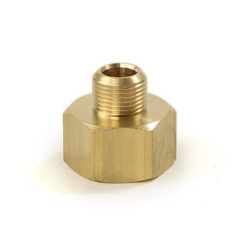 "Universal Brass Fitting 3/8""M-3/4""F with Washer  - Click to view a larger image"