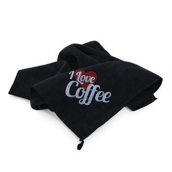 Universal I Love Coffee' Microfibre Cloth 40x40cm  - Click to view a larger image